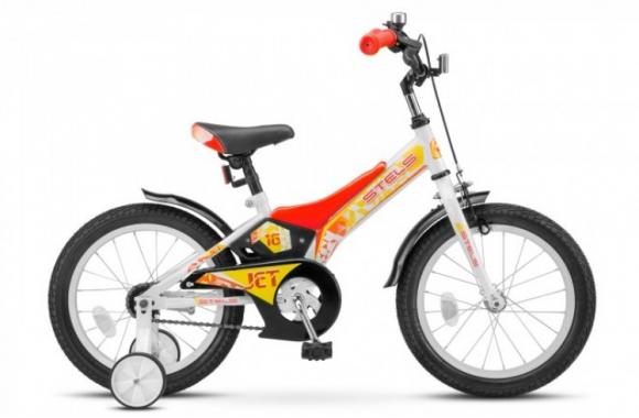 Детский велосипед Stels Jet 16 Z010 (2019) голубой/зеленый Один размер